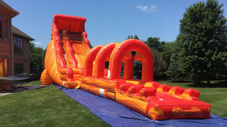 Hot Lava Slide & Slip'n' Slide