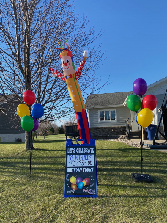 Sky Dancer /Balloon Package + Sign