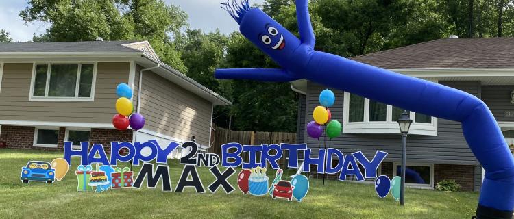 Yard Letters, Sky Dancer + Balloons