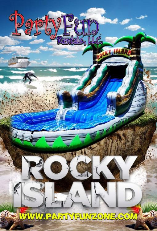 Rocky Island 15' Water Slide